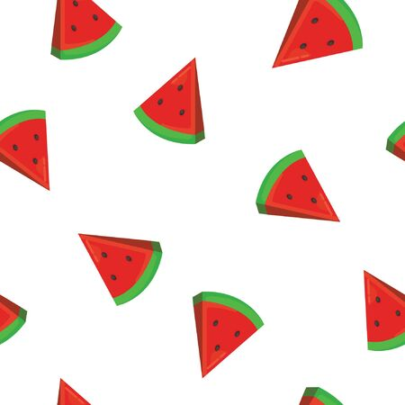 Colorful Watermelon seamless pattern. Citrus fruit background. Elements for menu, greeting cards, wrapping paper.