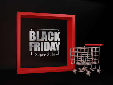 Black Friday poster template. Shopping banner