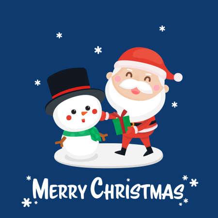 Festive Greeting card. Christmas and New year template for invitation card. Christmas and New year Background. Ilustração