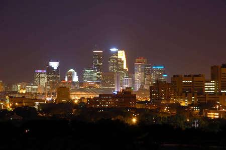 Minneapolis Skyline at Night photo