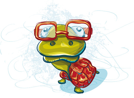 Funny turtle with glasses that I did not hear