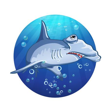 hammerhead: Hammerhead shark cartoon image Illustration