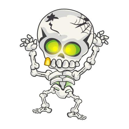 bizarre: Illustration of funny skeleton