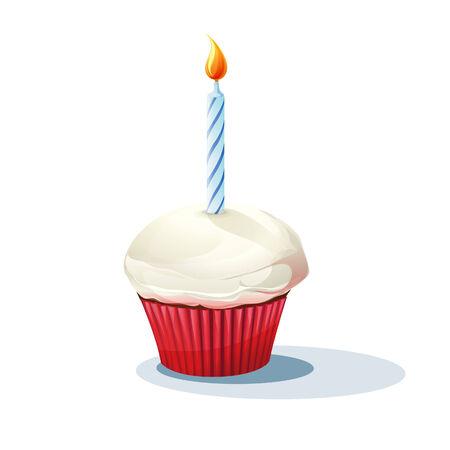 torta con candeline: Immagine di torta con una candela