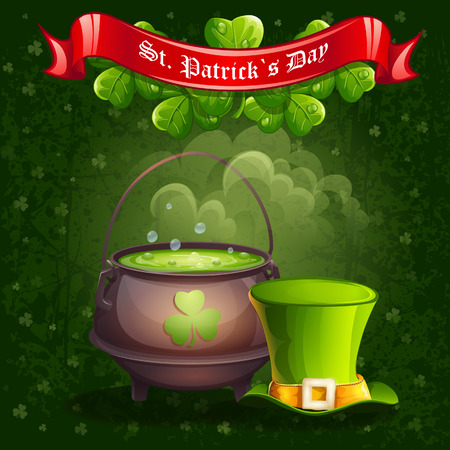 Greeting card for St  Patrick Vector