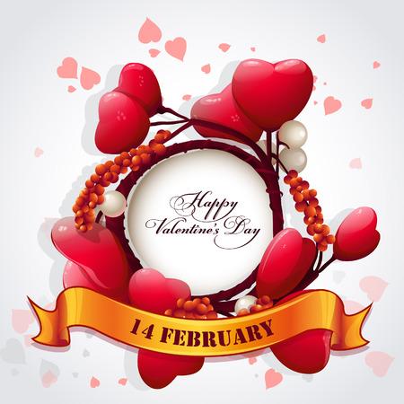 valentine s day: Card for Valentine