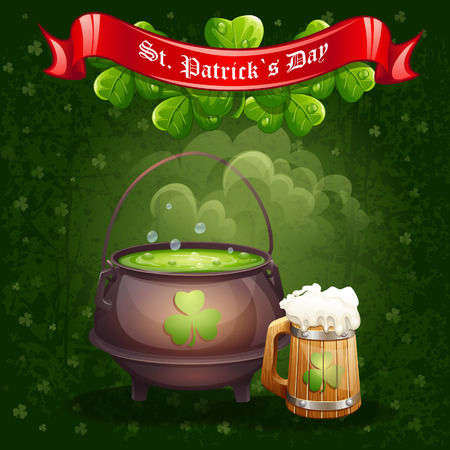 patrick s: Greeting card for St  Patrick
