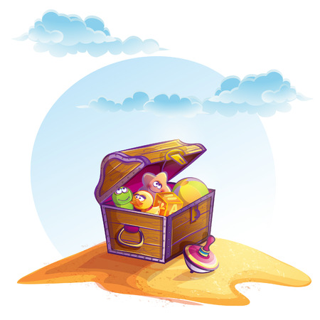 toy chest: Illustration of treasure chest