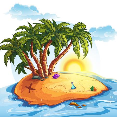 Illustration of Treasure Island Vector