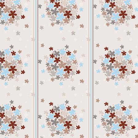 flowered: Seamless texture flowered wallpaper and strip
