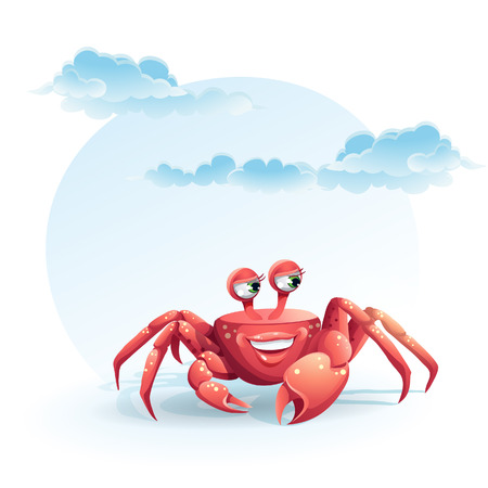 illustration merry crab Vector