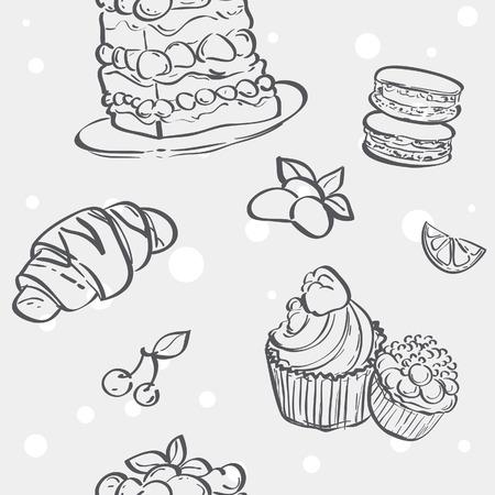 meringue: Seamless texture with different baking croissants, cakes, cookies, meringue
