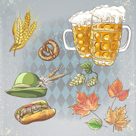 A set of objects to the Oktoberfest Vector