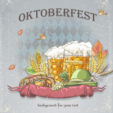 tyrol: a celebratory background of Oktoberfest