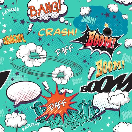 comic: La textura perfecta para el fondo con los elementos de la imagen c�mics p�gina con burbujas para el habla, diferentes sonidos y flechas.