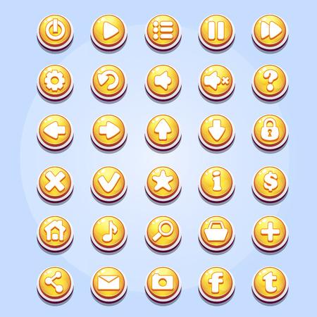 Set van verschillende knoppen voor computerspellen Valentine Stockfoto - 35515602
