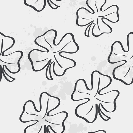 patric: Seamless texture with clover leaf for St. Patrick