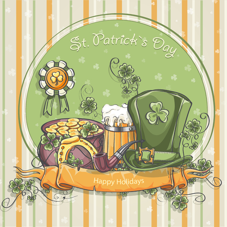 Greeting card for St. Patrick Vector