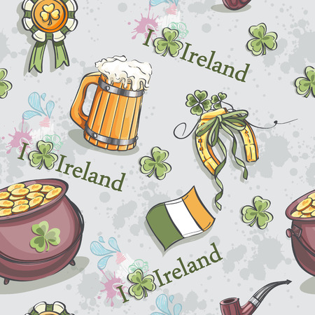 lucky bag: Seamless texture for St. Patrick Illustration