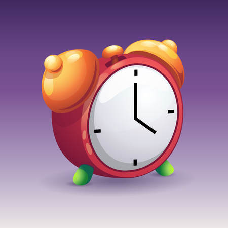 yelow: Image of red alarm clock with yelow bells