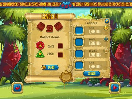 jeu: Exemple de réglage du niveau de la fenêtre pour un jeu d'ordinateur Illustration