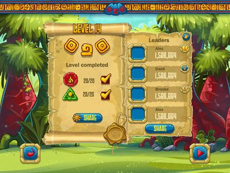 El ejemplo del nivel de rendimiento de la pantalla de juego para juegos de ordenador Foto de archivo - 44315883