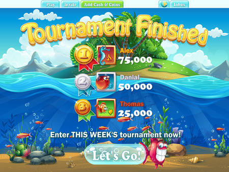 sea weeds: Fish world - tournament finished for computer, web game