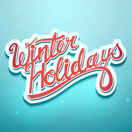 winter holidays: Winter holidays boot screen window for the computer game