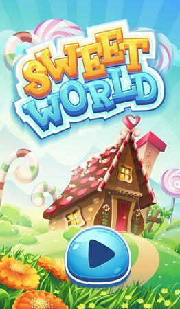 gingerbread cake: Sweet world mobile GUI pack loading screen