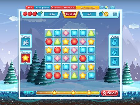 playing field: Merry Christmas GUI - playing field for the computer game