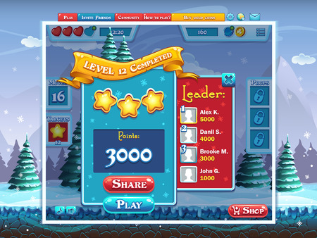 levels: Marry Christmas - example completing level computer game