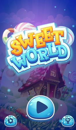 games: Sweet world mobile GUI boot loading screen for video web games