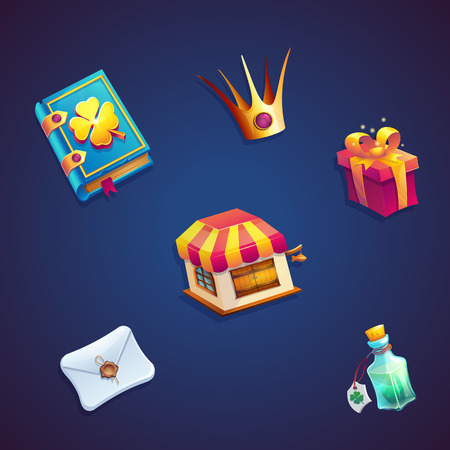 Sweet world mobile GUI set elements video web games
