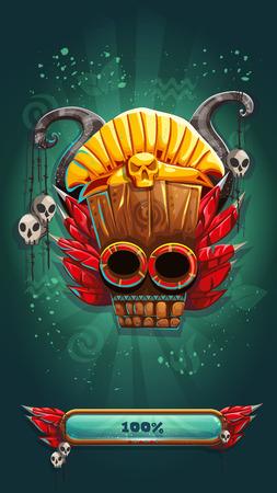 demonio: pantalla de carga móvil juego GUI chamanes de la selva