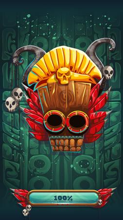 aztec art: Jungle shamans mobile GUI game loading screen