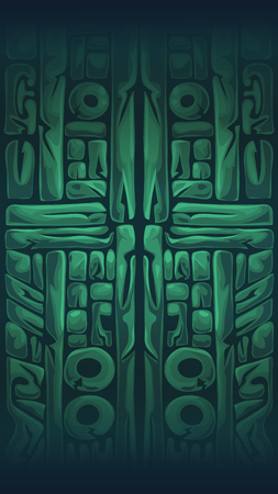 mystery: Jungle shamans mobile GUI background window vector illustration Illustration