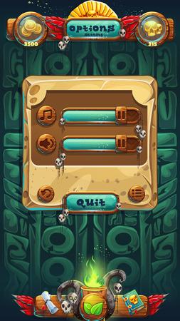 booster: Jungle shamans GUI music options window illustration