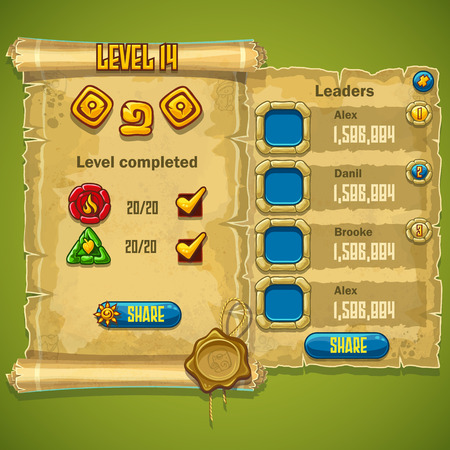 completed: Example of the level completed for computer game