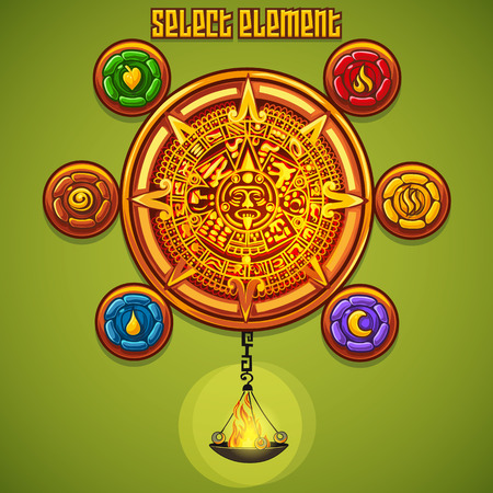 select: Example of the select elements for computer game