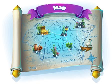 Atlantis rovina campo di gioco Vettoriali