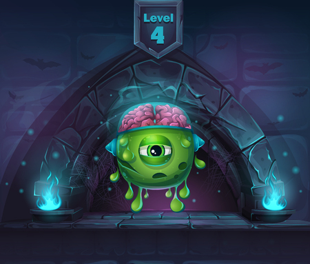 arcane: Monster with brains in Arch Magic in next 4th level.  For web, video games, user interface, design.
