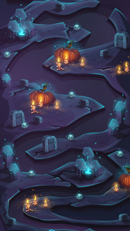 levels: Level map vertical scrolling user interface seamless background vector image for mobile game assest.