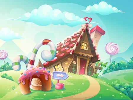 maison douce des biscuits et des bonbons
