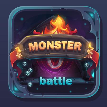 Monster battle GUI icon Ilustrace