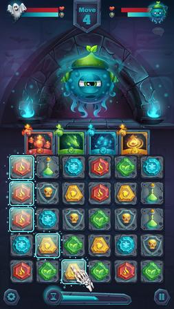 web portal: Monster battle GUI slug nature.