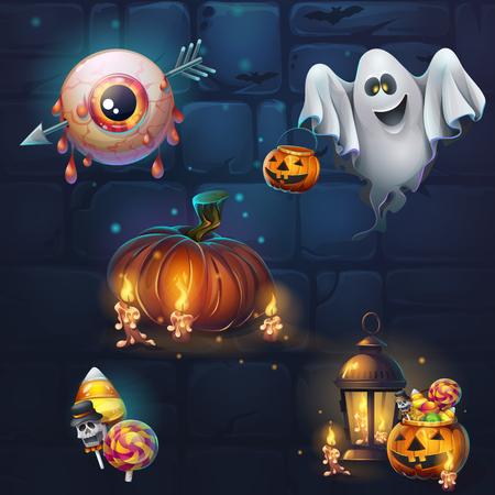 Theme halloween vector illustration. Stok Fotoğraf - 87420051
