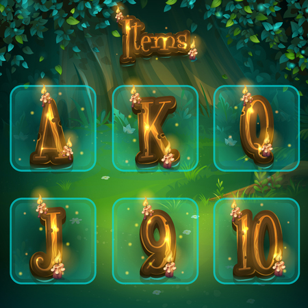 Set of different letters for game user interface Banco de Imagens - 90277460