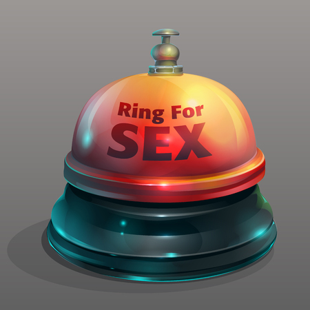 Vector illustration fun bell toy ring for sex Stock Photo