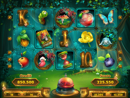Playing field slots game for user interface
