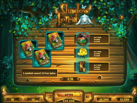 Playing field slots game for Shadowy forest GUI 版權商用圖片 - 98974967